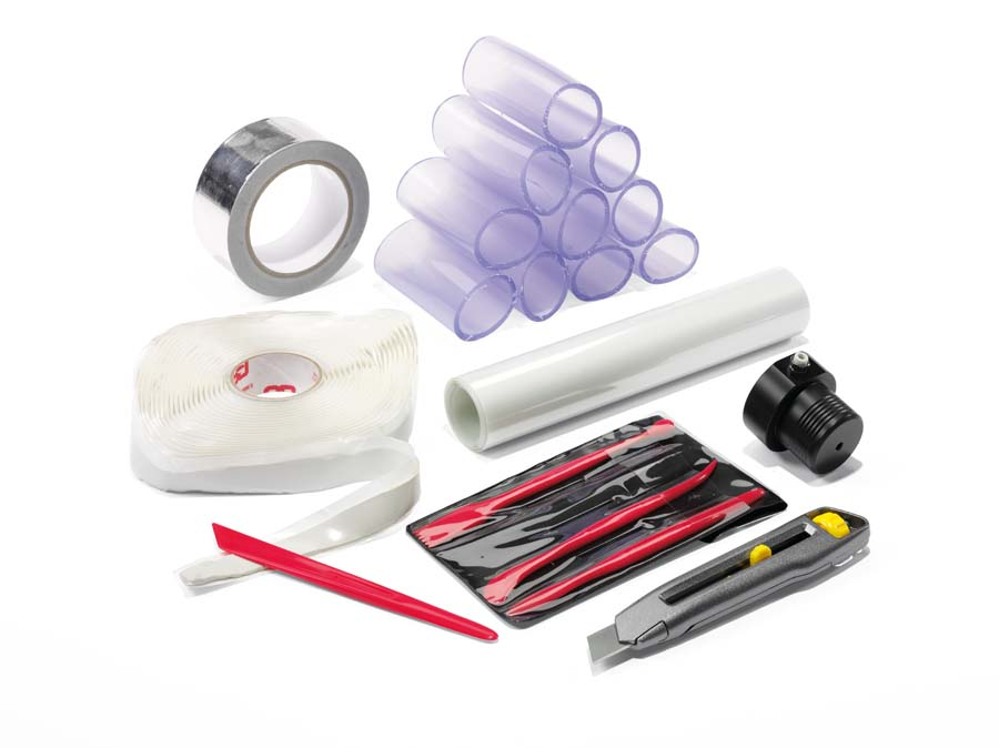 Injection Fix Kit, for injecting tracer gas to leaks on uneven surfaces